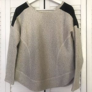 Zara Trafaluc Cream Heather Sweatshirt Size S